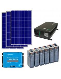 Kit Solar para casa fin de semana con nevera