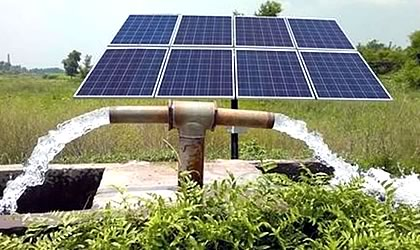 Bomba solar pozos