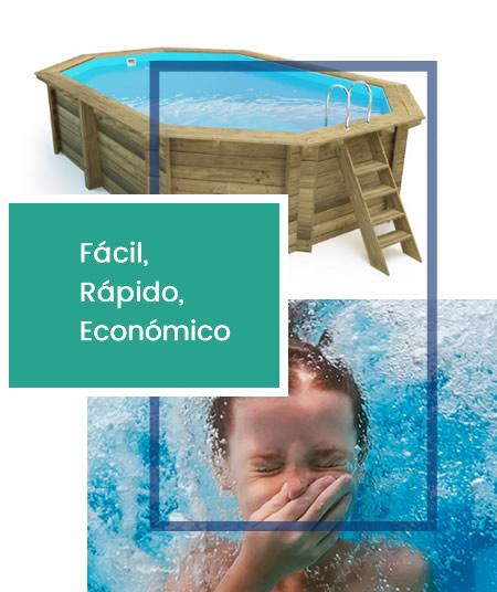 piscinas desmontables madera mallorca
